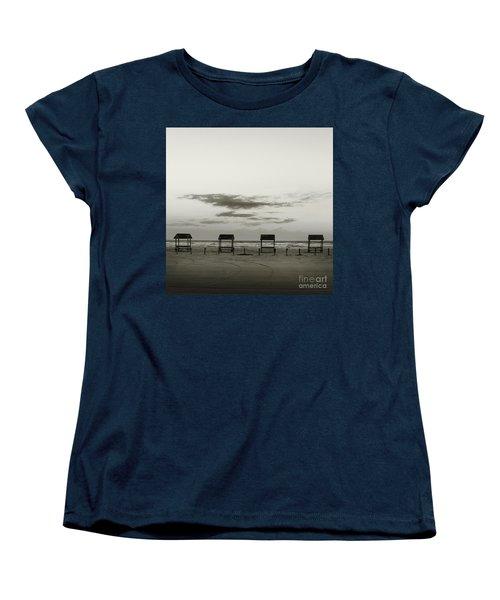 Four On The Beach Women's T-Shirt (Standard Cut) by Sebastian Mathews Szewczyk