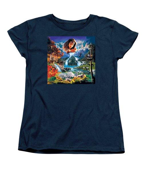 Four Seasons Women's T-Shirt (Standard Cut) by Robin Koni