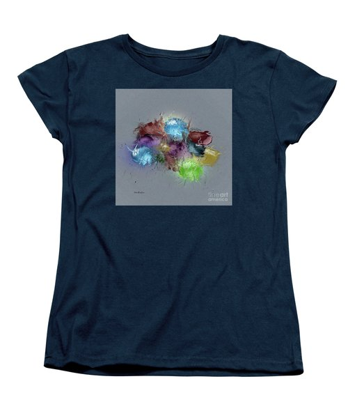 Women's T-Shirt (Standard Cut) featuring the digital art Fractured Bouqet 1 Pc by John Krakora