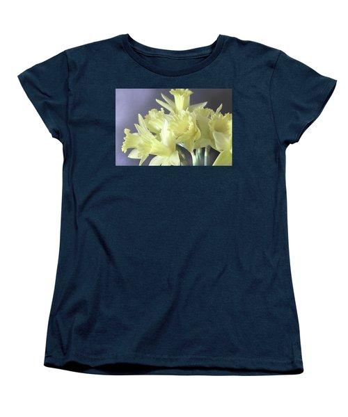 Fragile Daffodils Women's T-Shirt (Standard Cut) by Jacqi Elmslie