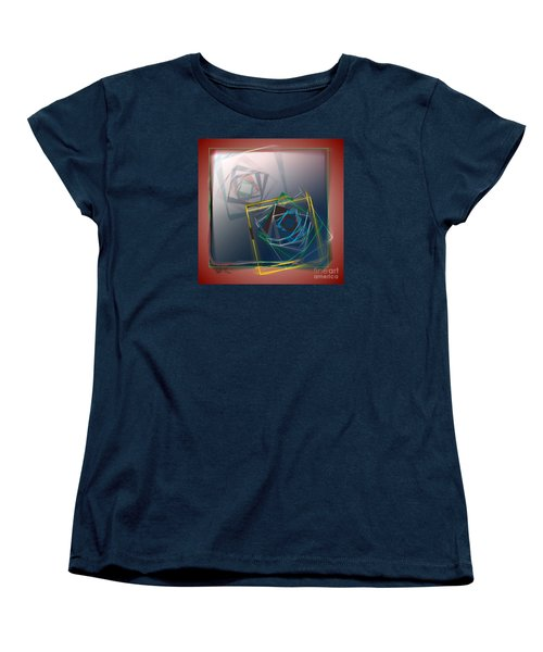 Women's T-Shirt (Standard Cut) featuring the digital art Fragments Of Movement by Leo Symon