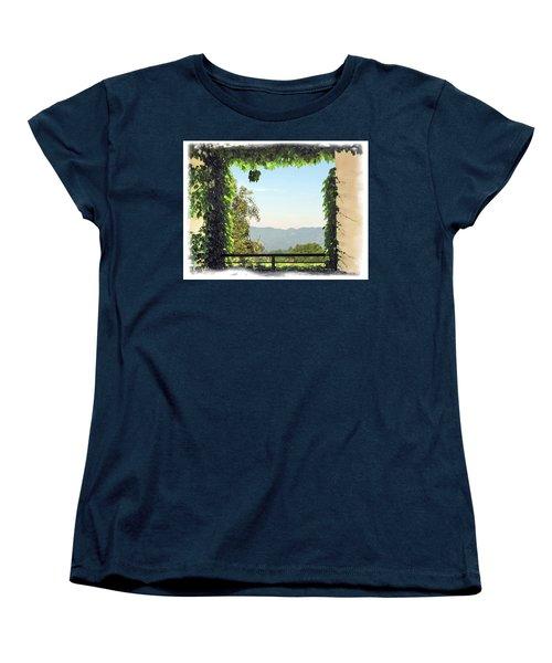 Women's T-Shirt (Standard Cut) featuring the photograph Framing Napa Valley by Joan  Minchak