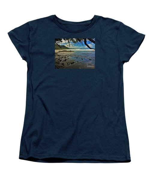 Women's T-Shirt (Standard Cut) featuring the photograph Framing The Tide by Pamela Blizzard