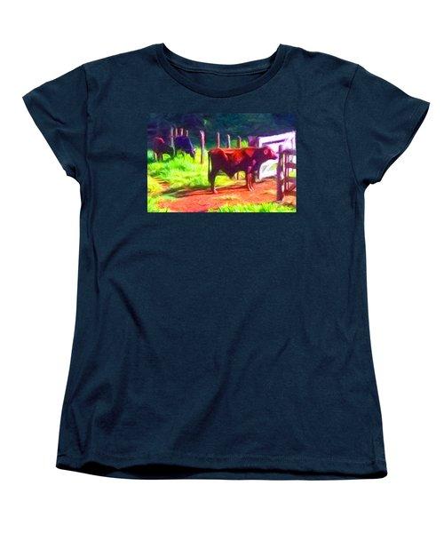 Franca Cattle 2 Women's T-Shirt (Standard Cut) by Caito Junqueira