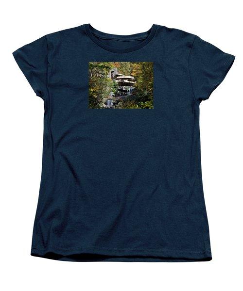 Frank Lloyd Wrights Fallingwater Women's T-Shirt (Standard Cut) by Brendan Reals