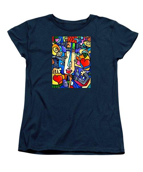 Frank Women's T-Shirt (Standard Cut) by Tom Fedro - Fidostudio
