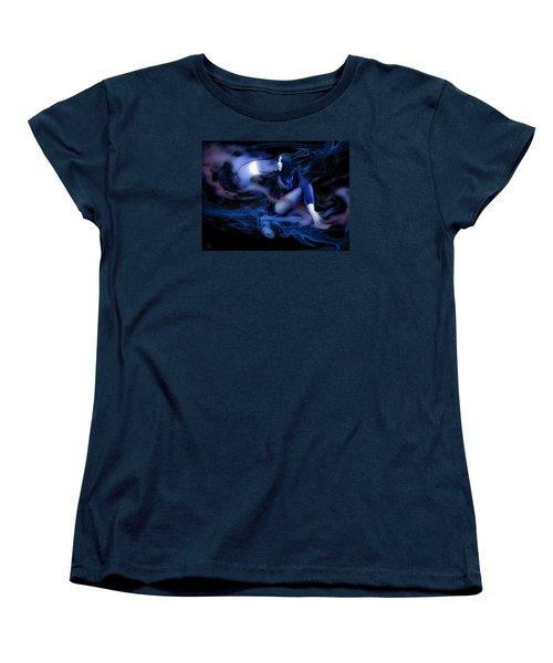 Fran's Ecliptic Moon Women's T-Shirt (Standard Cut) by Glenn Feron