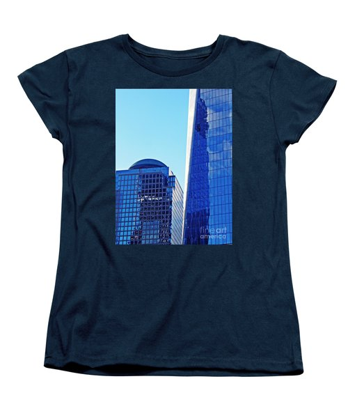 Women's T-Shirt (Standard Cut) featuring the photograph Freedom Tower And 2 World Financial Center by Sarah Loft