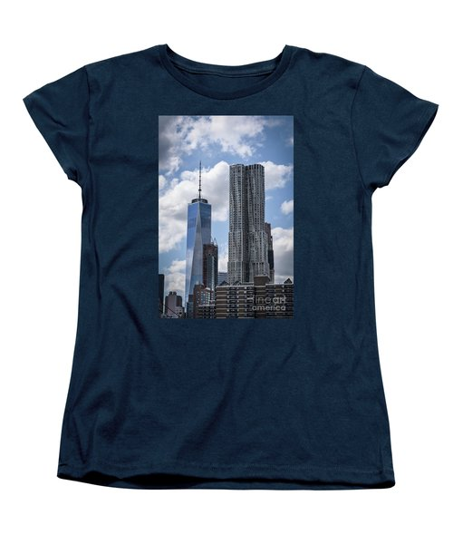 Women's T-Shirt (Standard Cut) featuring the photograph Freedom Tower by Judy Wolinsky