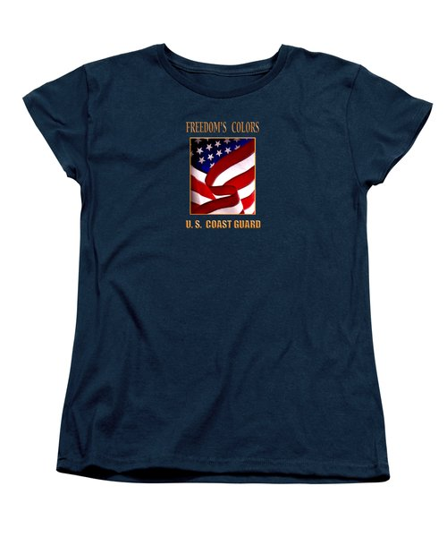 Freedom's Colors Uscg Women's T-Shirt (Standard Cut) by George Robinson