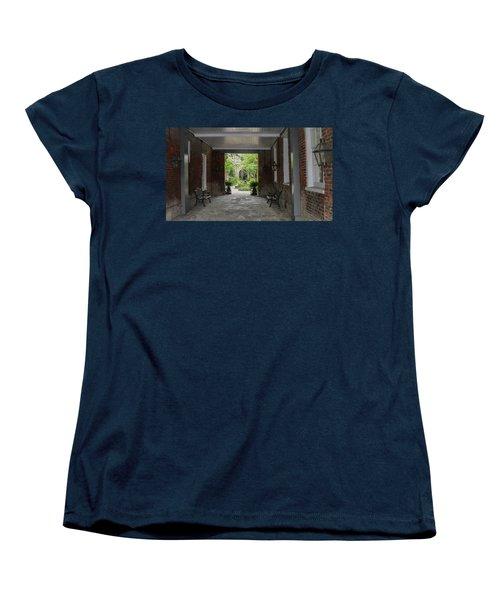 French Quarter Courtyard Women's T-Shirt (Standard Cut) by Mark Barclay
