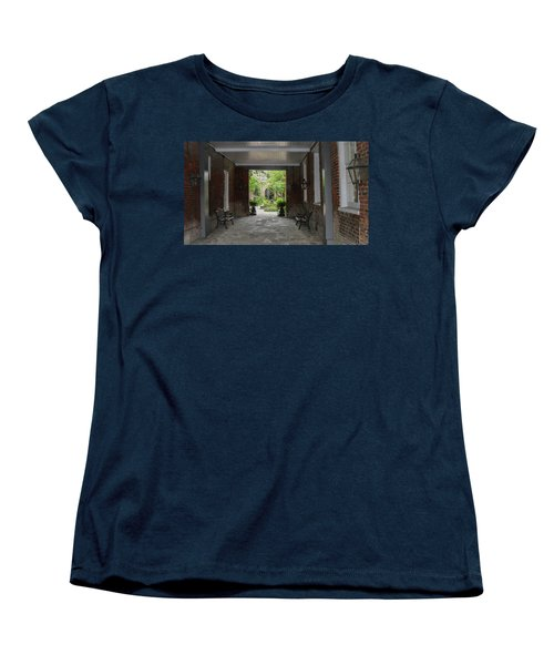 French Quarter Courtyard Women's T-Shirt (Standard Cut)