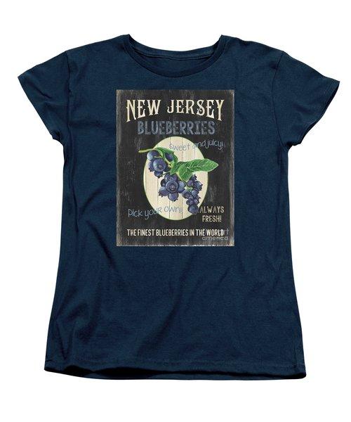 Women's T-Shirt (Standard Cut) featuring the painting Fresh Berries 1 by Debbie DeWitt