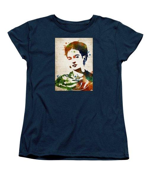 Frida Kahlo Women's T-Shirt (Standard Cut) by Mihaela Pater