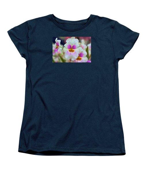 Friday Flowers Women's T-Shirt (Standard Cut) by Nadia Sanowar