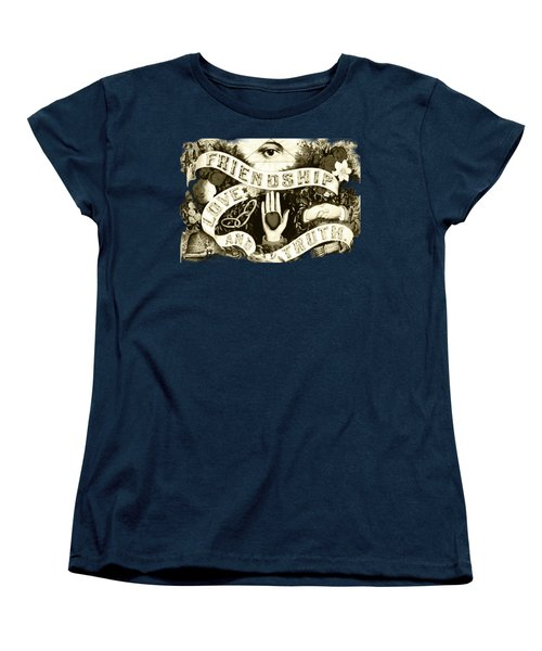 Friendship - Vintage Poster Women's T-Shirt (Standard Cut) by Asok Mukhopadhyay