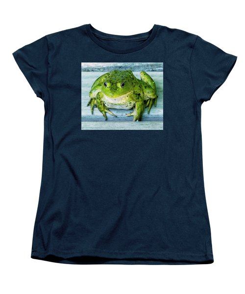 Frog Portrait Women's T-Shirt (Standard Cut) by Edward Peterson