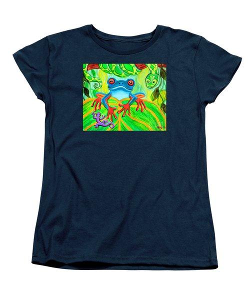 Frog Snake And Gecko In The Rainforest Women's T-Shirt (Standard Cut)