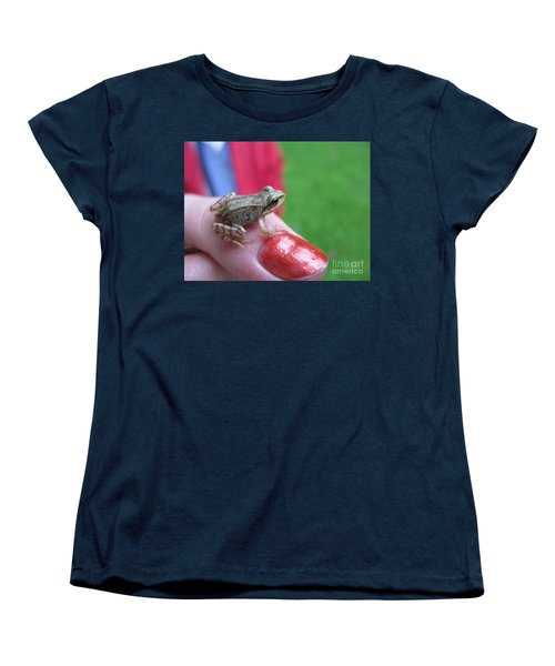 Women's T-Shirt (Standard Cut) featuring the photograph Frog The Prince by Ausra Huntington nee Paulauskaite