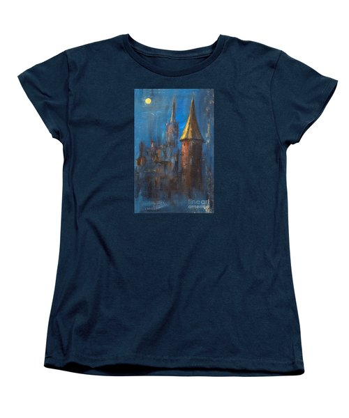 Women's T-Shirt (Standard Cut) featuring the painting From Medieval Times by Arturas Slapsys