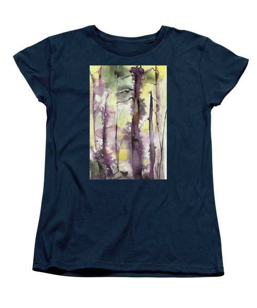 Women's T-Shirt (Standard Cut) featuring the painting From The Fire by Nadine Dennis