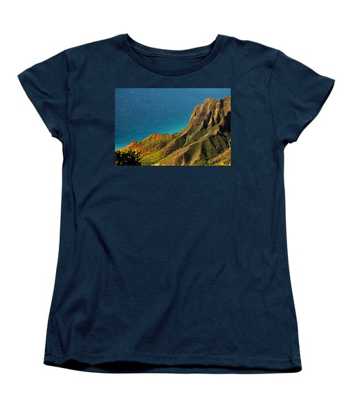 Women's T-Shirt (Standard Cut) featuring the photograph From The Hills Of Kauai by Debbie Karnes