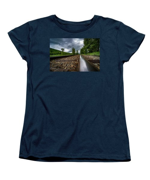 Women's T-Shirt (Standard Cut) featuring the photograph From The Track by Darcy Michaelchuk