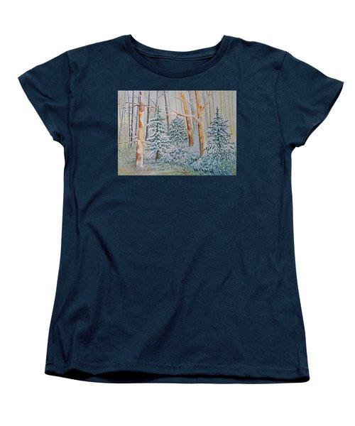 Winter Frost Women's T-Shirt (Standard Cut) by Joanne Smoley