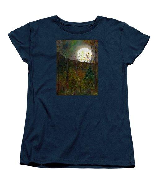 Frost Moon Women's T-Shirt (Standard Cut) by FT McKinstry
