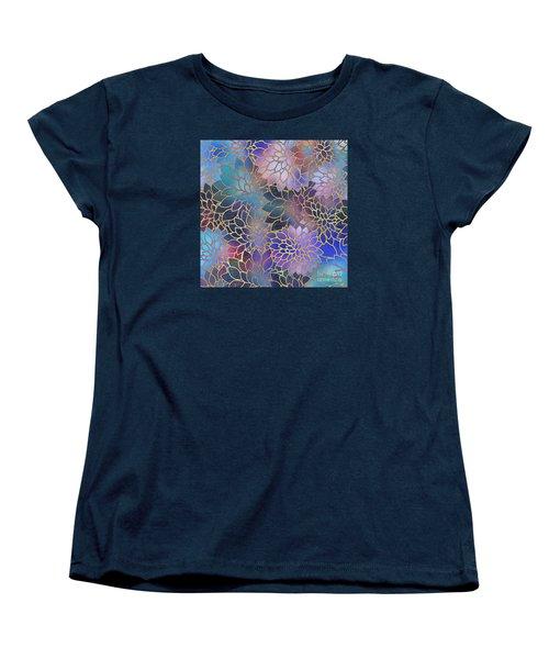 Women's T-Shirt (Standard Cut) featuring the digital art Frostwork Fantasy by Klara Acel