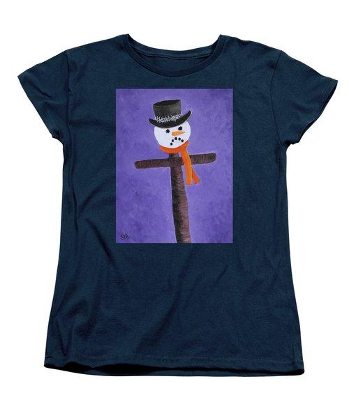 Frosty Cross Women's T-Shirt (Standard Cut) by Reggie Hart
