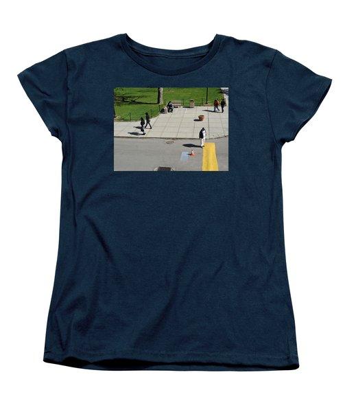 Frozen Lines Women's T-Shirt (Standard Cut) by Jose Rojas