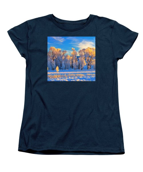 Frozen Sunrise Women's T-Shirt (Standard Cut) by Greg Norrell