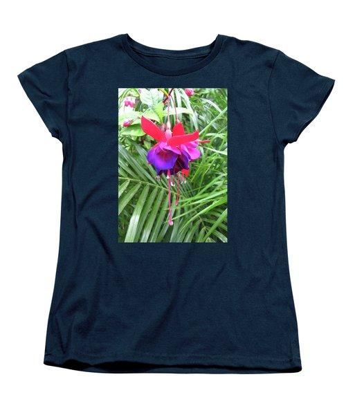Women's T-Shirt (Standard Cut) featuring the photograph Fuchsia by Mary Ellen Frazee