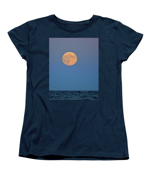 Full Blood Moon Women's T-Shirt (Standard Cut) by Nancy Landry
