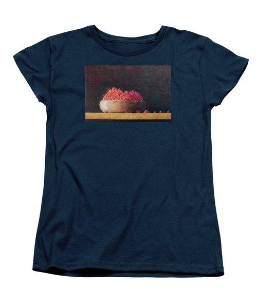 Women's T-Shirt (Standard Cut) featuring the painting Full Life by A  Robert Malcom