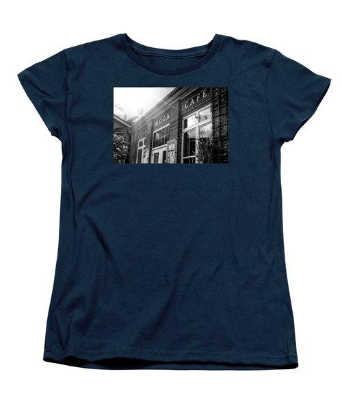 Women's T-Shirt (Standard Cut) featuring the photograph Full Moon Cafe by David Sutton