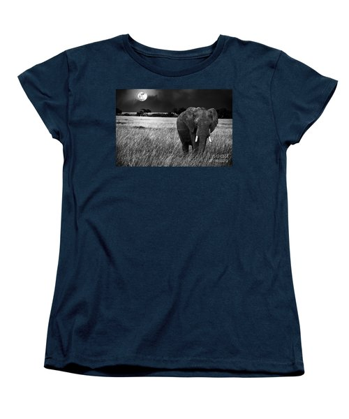 Full Moon Night Women's T-Shirt (Standard Cut) by Charuhas Images