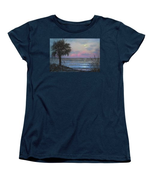 Full Moon Rising Women's T-Shirt (Standard Cut) by Blue Sky