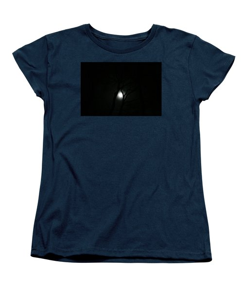Women's T-Shirt (Standard Cut) featuring the photograph Full Moon Through Trees by Marilyn Hunt