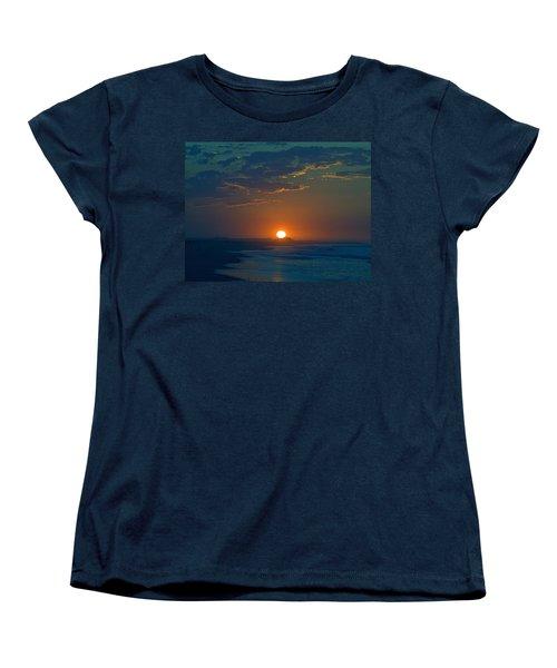 Women's T-Shirt (Standard Cut) featuring the photograph Full Sun Up by  Newwwman