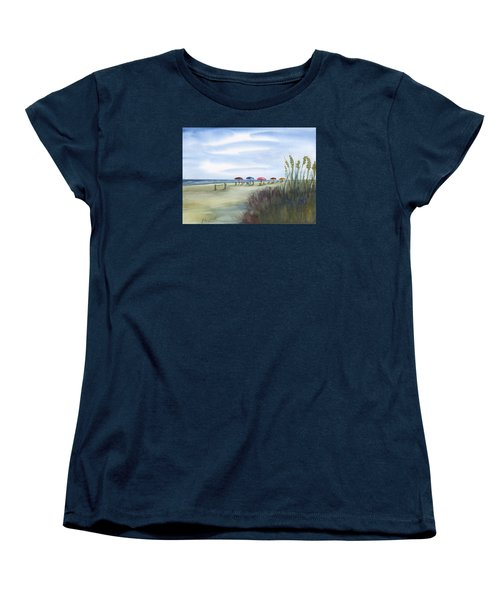 Fun At Folly Field Beach Women's T-Shirt (Standard Cut) by Frank Bright