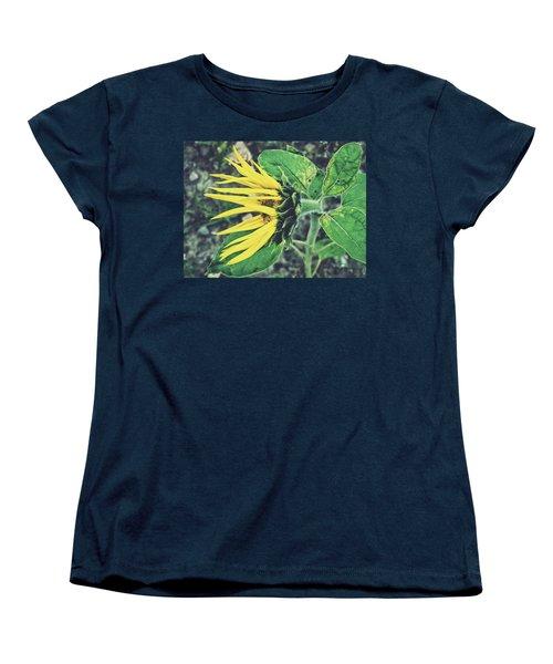 Funny Sunflower Women's T-Shirt (Standard Cut) by Karen Stahlros