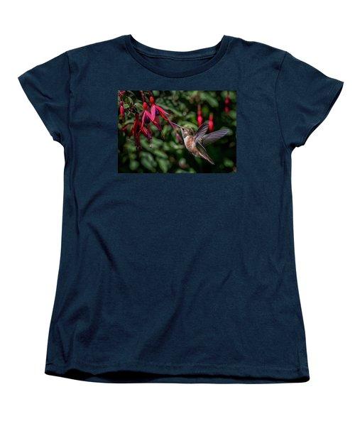 Fuschia Women's T-Shirt (Standard Cut) by Randy Hall