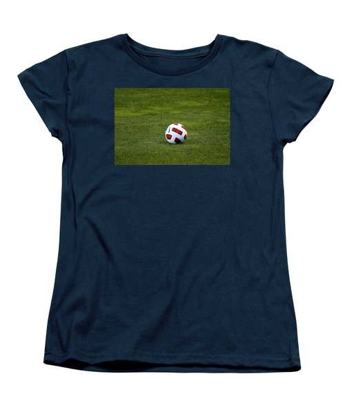Women's T-Shirt (Standard Cut) featuring the photograph Futbol by Laddie Halupa