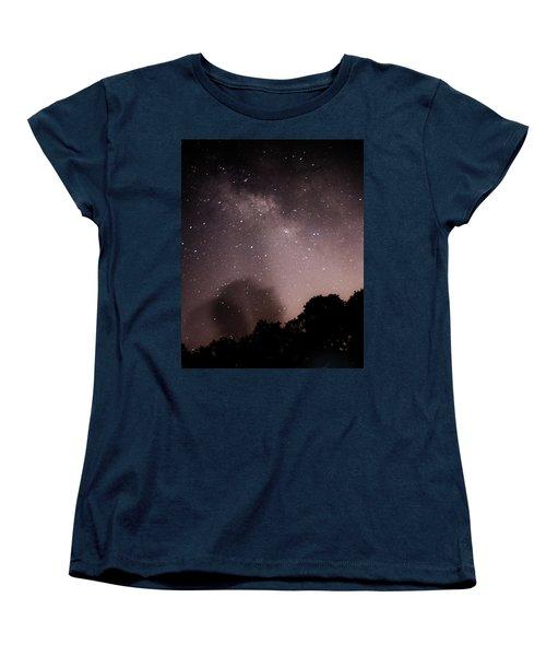 Galaxy Beams Me Women's T-Shirt (Standard Cut) by Carolina Liechtenstein