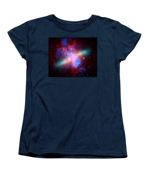 Women's T-Shirt (Standard Cut) featuring the photograph Galaxy M82 by Marco Oliveira
