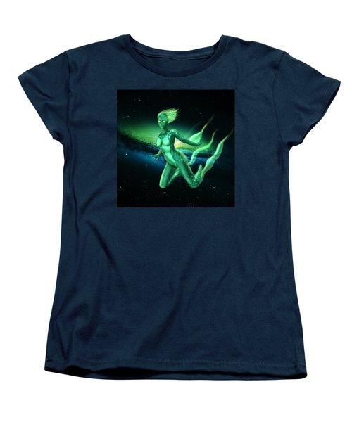 Galaxy Mermaid Women's T-Shirt (Standard Cut) by Rene Lopez
