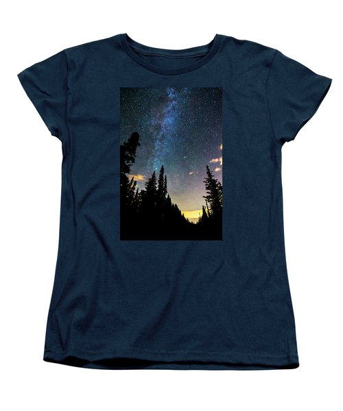 Women's T-Shirt (Standard Cut) featuring the photograph  Galaxy Rising by James BO Insogna