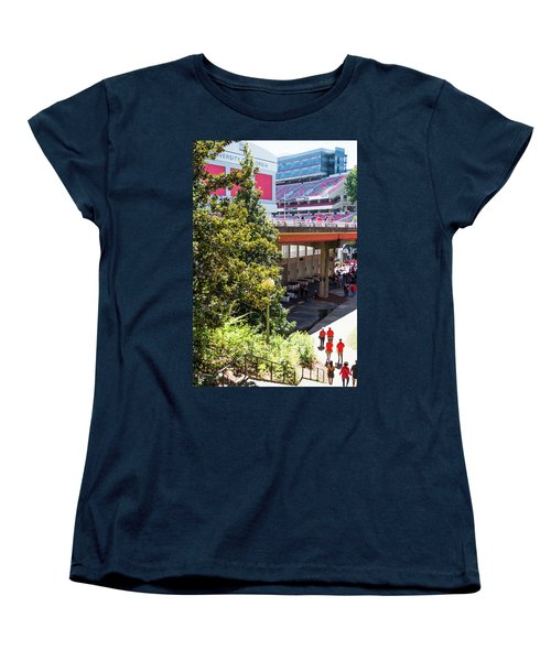Women's T-Shirt (Standard Cut) featuring the photograph Game Day In Athens by Parker Cunningham